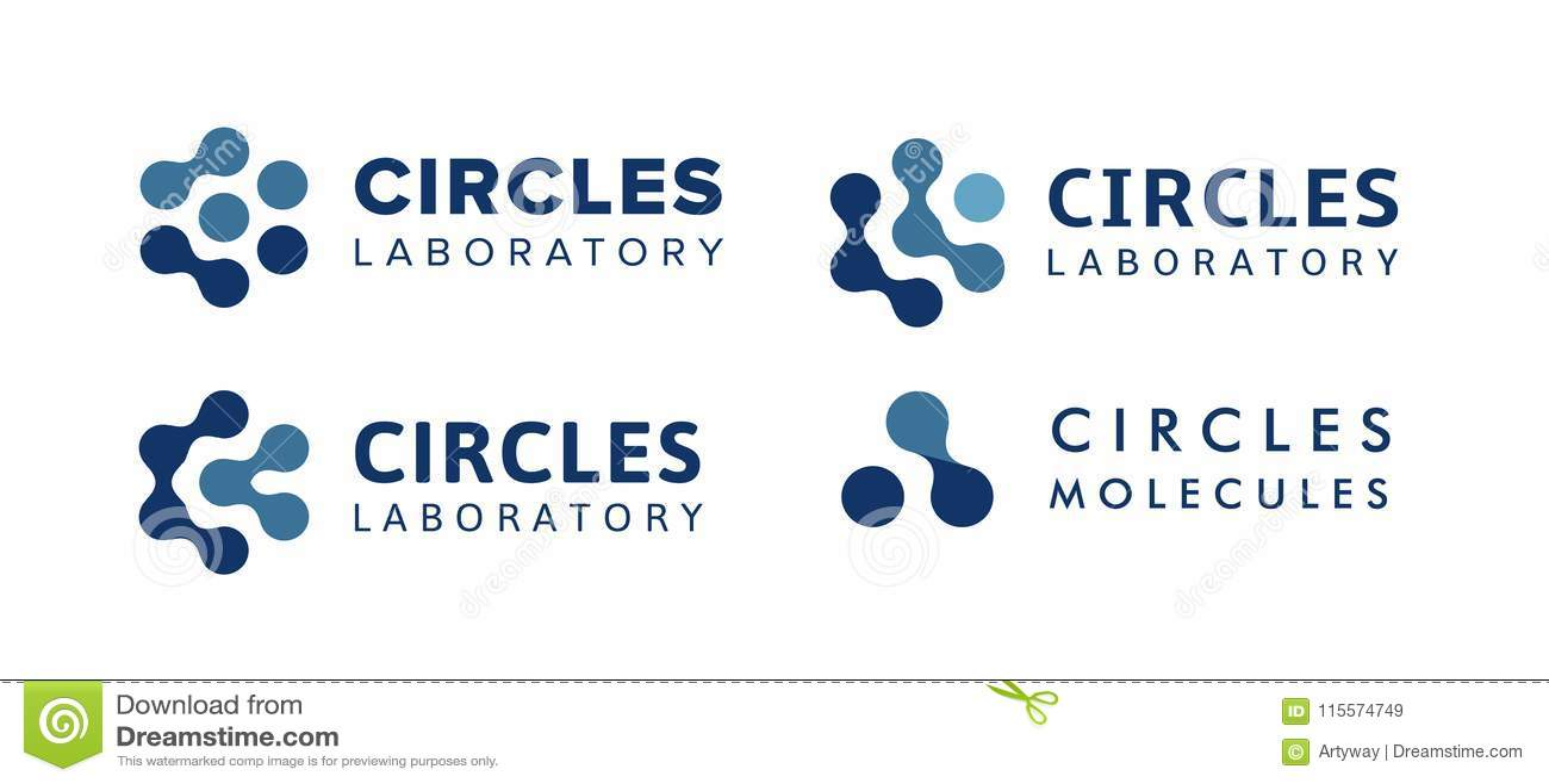 Resuma el logotipo aislado de azul conectan los puntos, plantilla de los logotipos del hexágono, muestra molecular del equipo, te