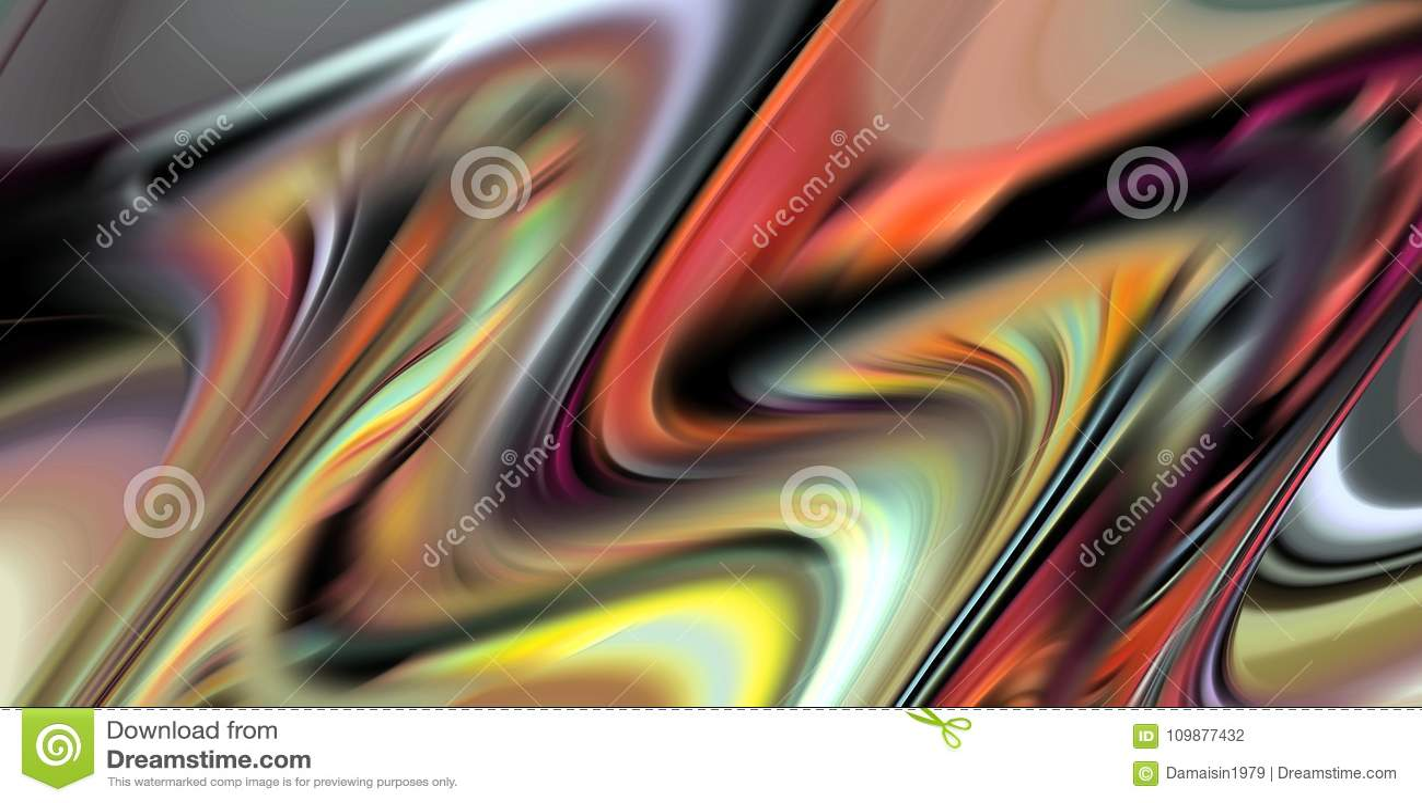 Resuma las líneas de colores borrosas, líneas vivas de las ondas, ponga en contraste el fondo abstracto