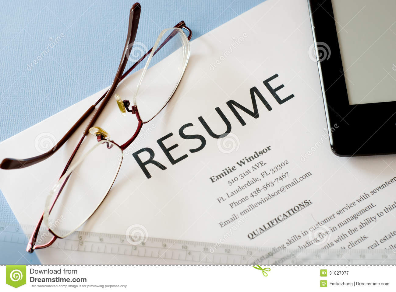 resume stock image  image of human  resources  document