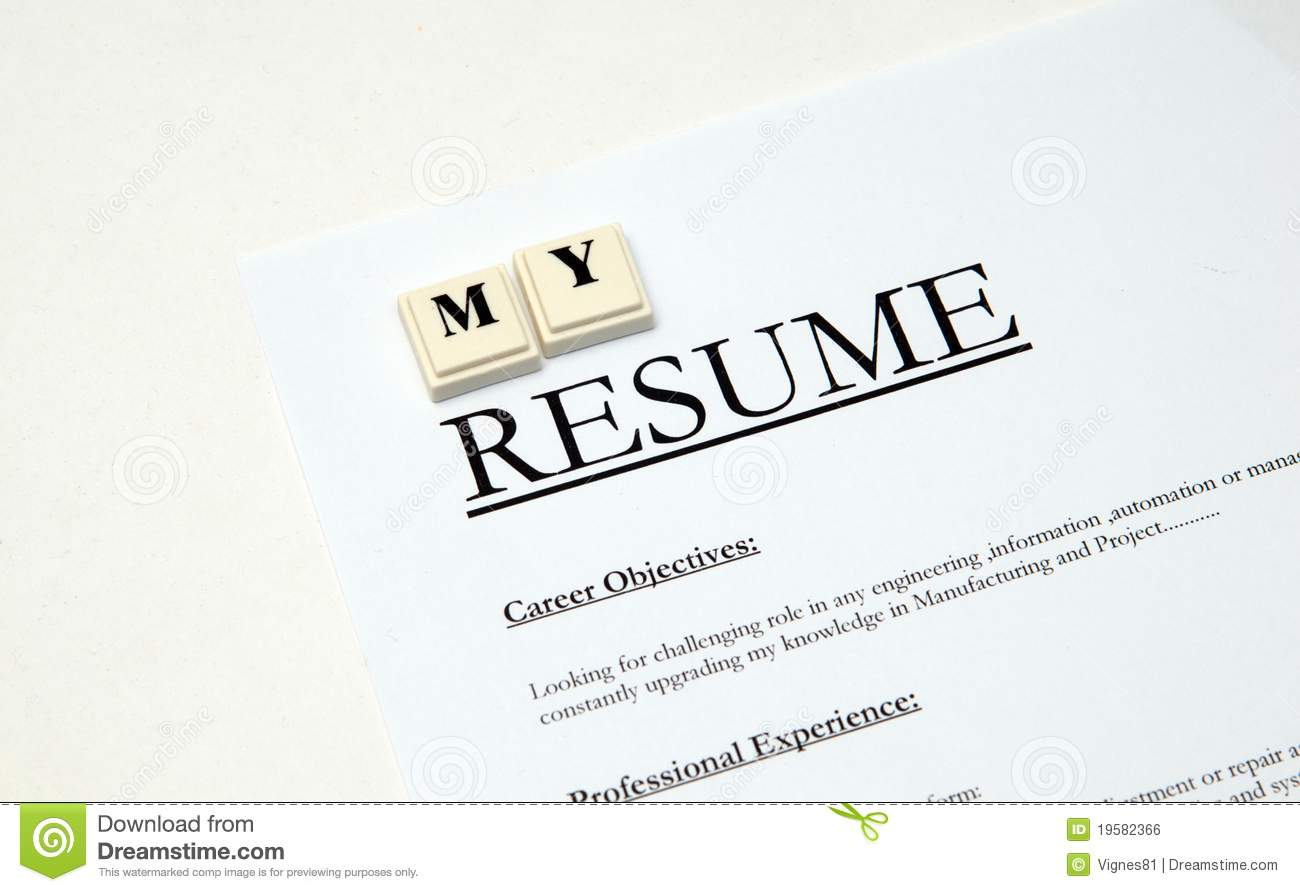 Resume Cv Stock Photo Image Of Qualified Interview 19582366