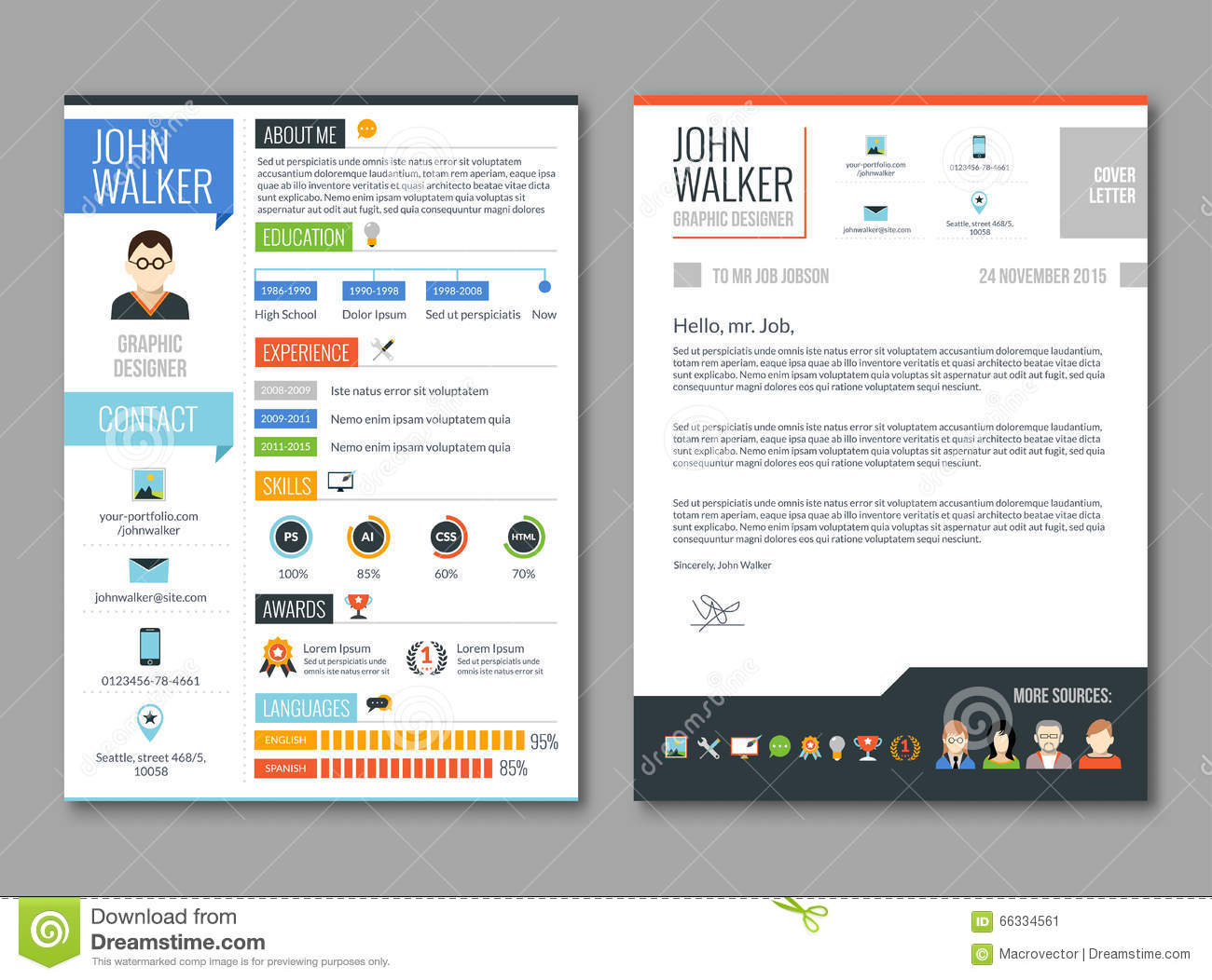 experience illustration job resume template