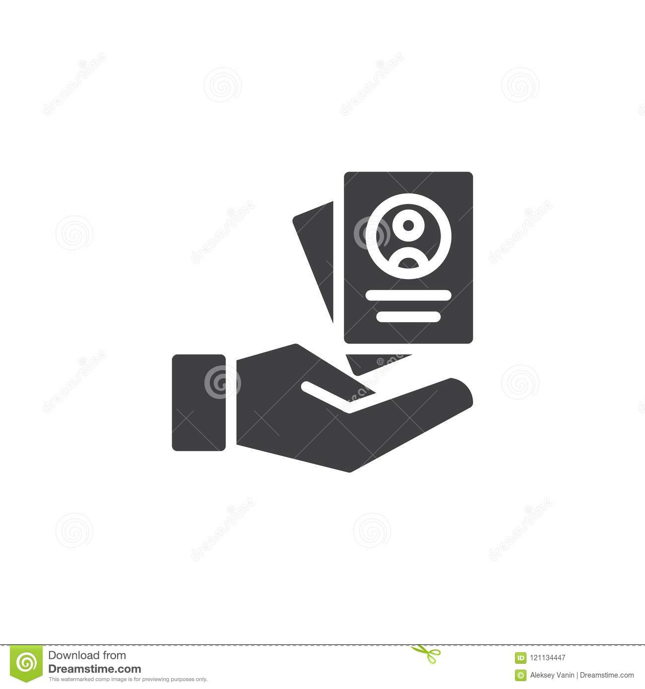 Resume Form In Hand Vector Icon Stock Vector - Illustration of pixel ...