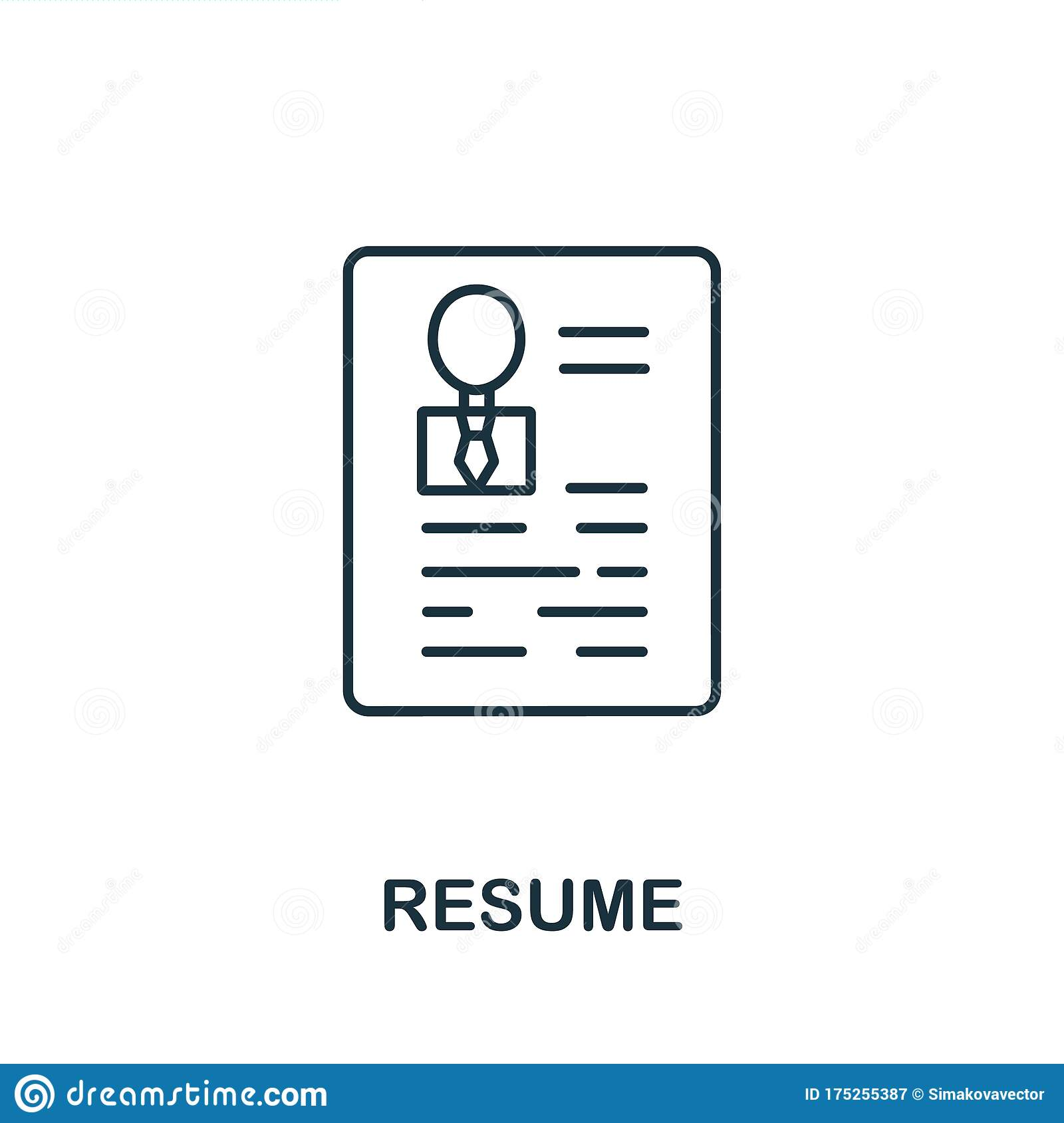 resume icon from headhunting collection  simple line