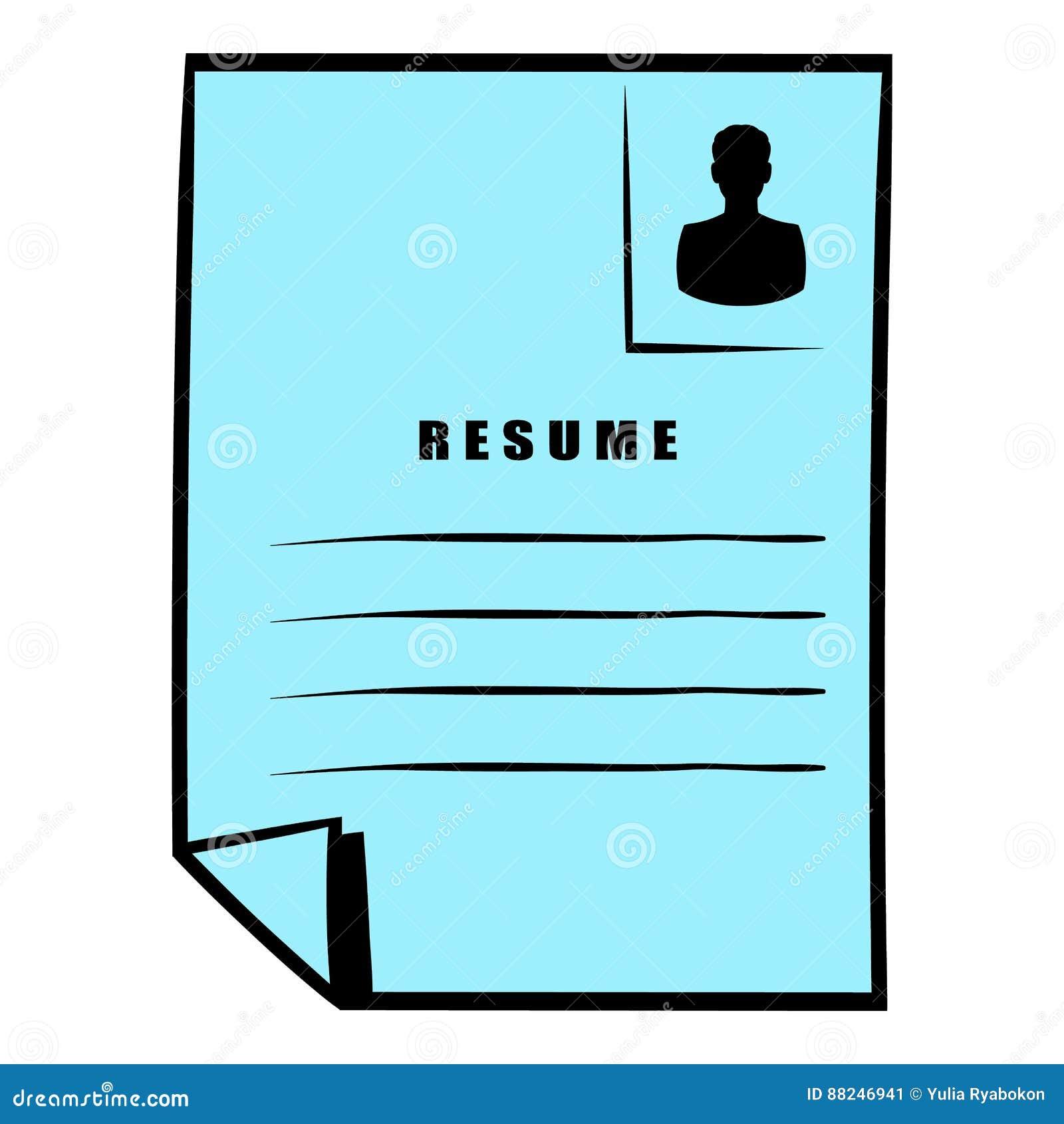 download resume icon icon cartoon stock vector illustration of icon 88246941 - Resume Icon
