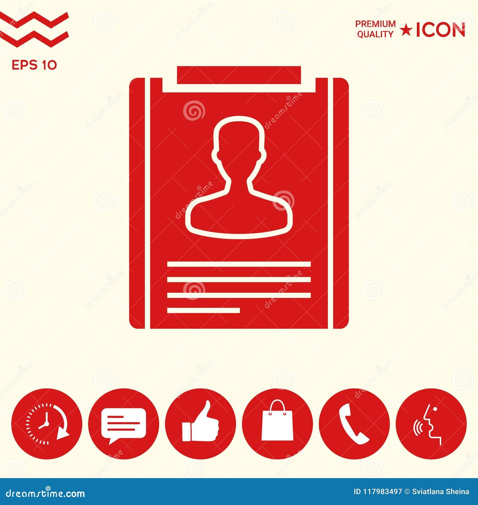 Resume icon symbol stock vector. Illustration of illustration ...