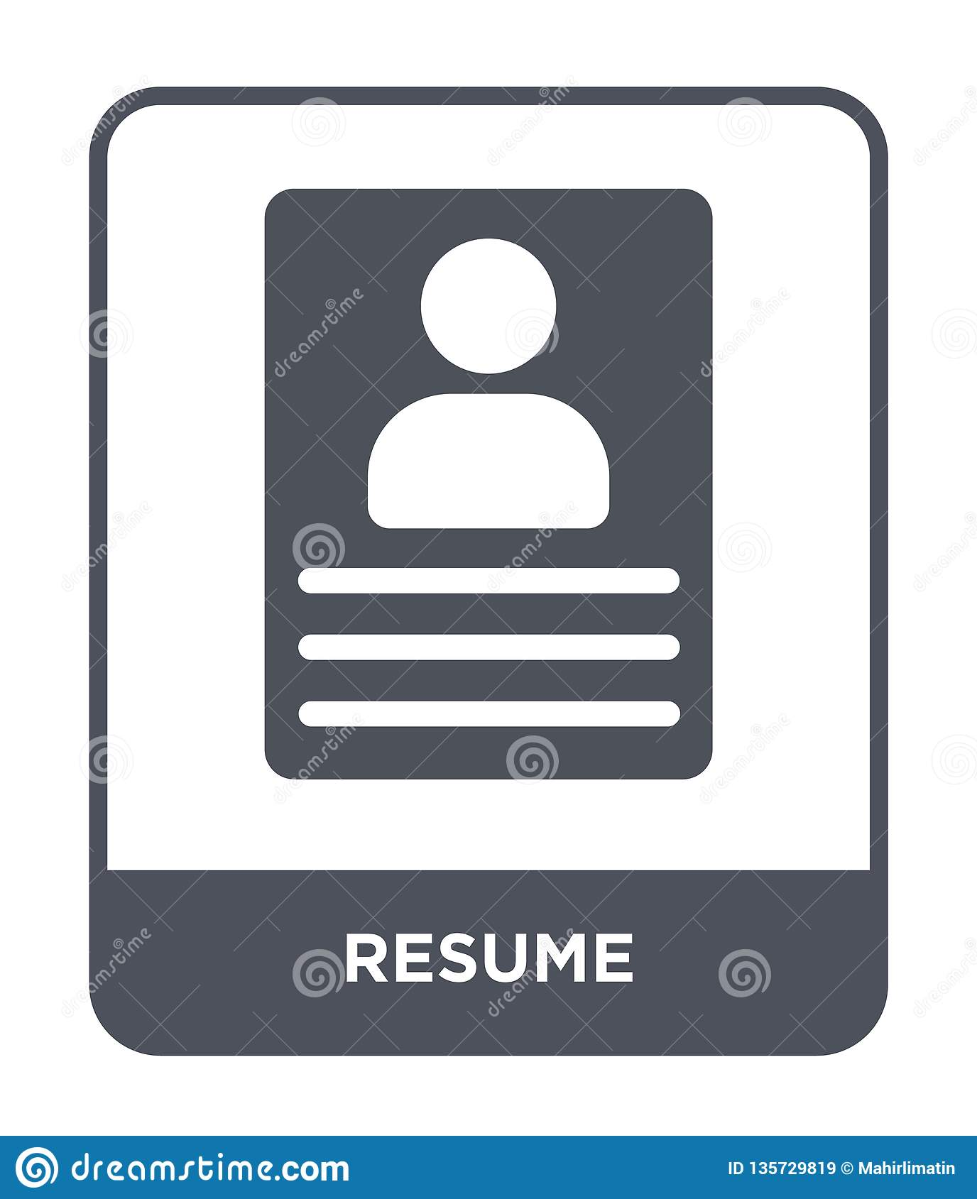 resume icon in trendy design style  resume icon isolated on white background  resume vector icon