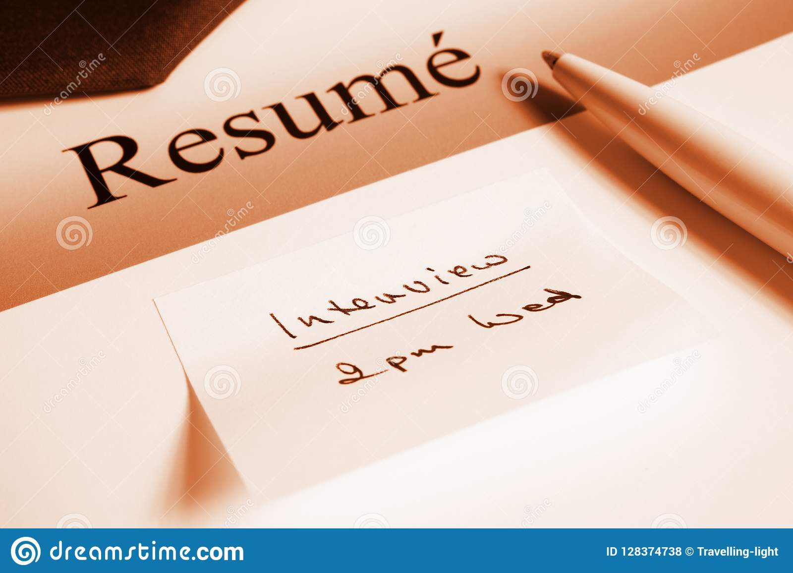 Resume And Job Interview Concept Stock Photo Image Of Sepia