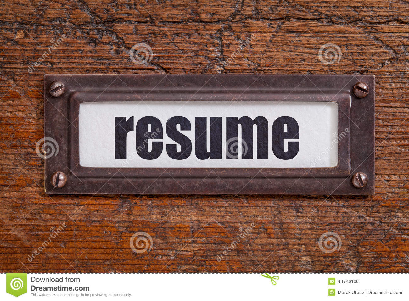 resume label stock photo  image of paper  grunge  text