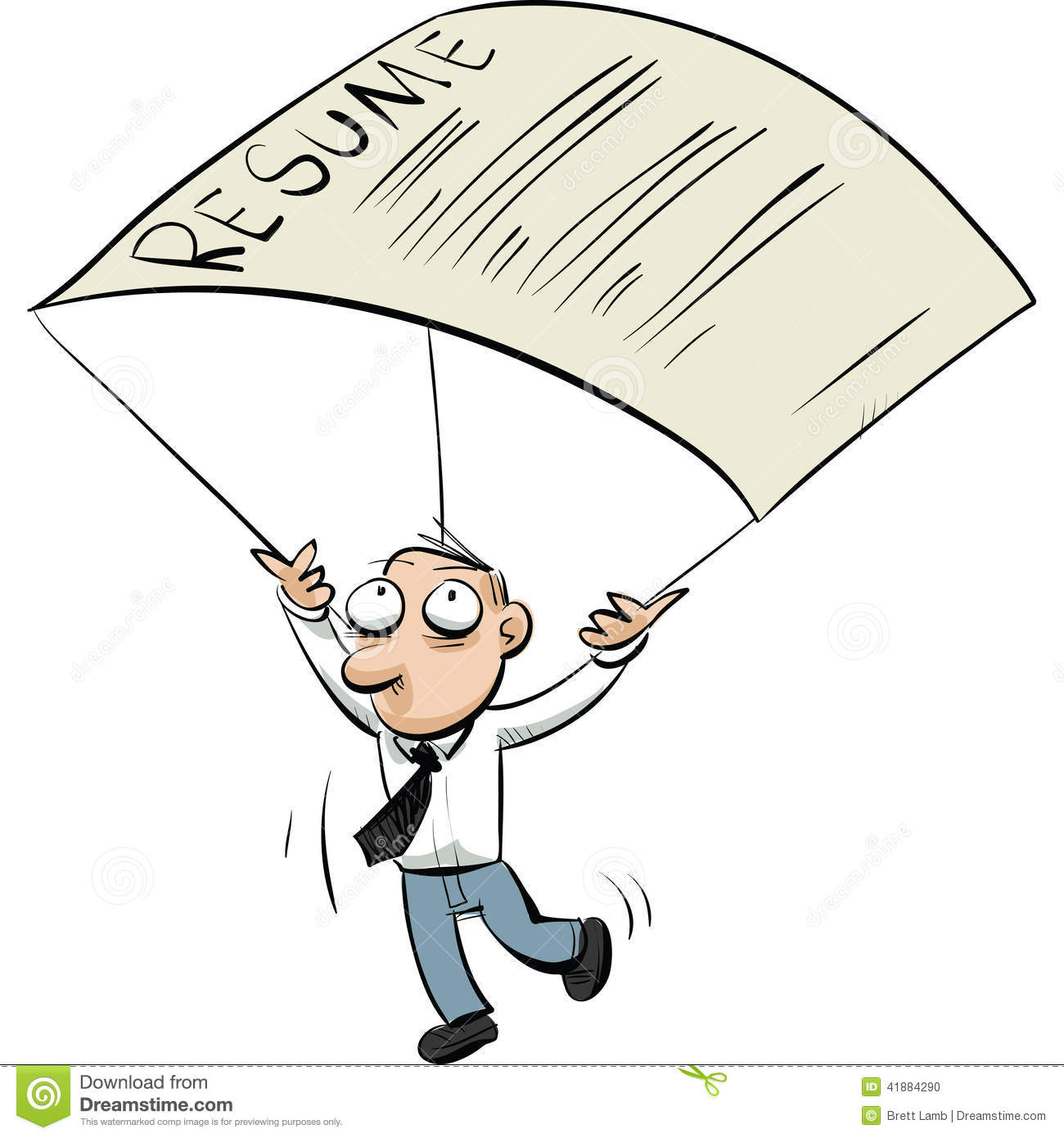 resume parachute stock illustration image 41884290
