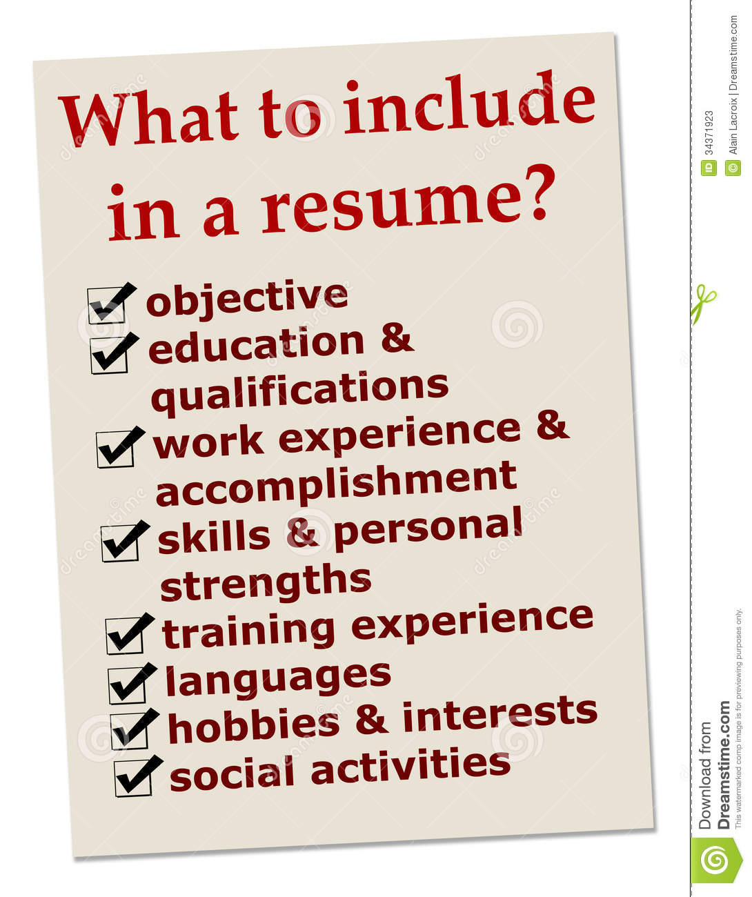 how to include makeup as a hobby resume