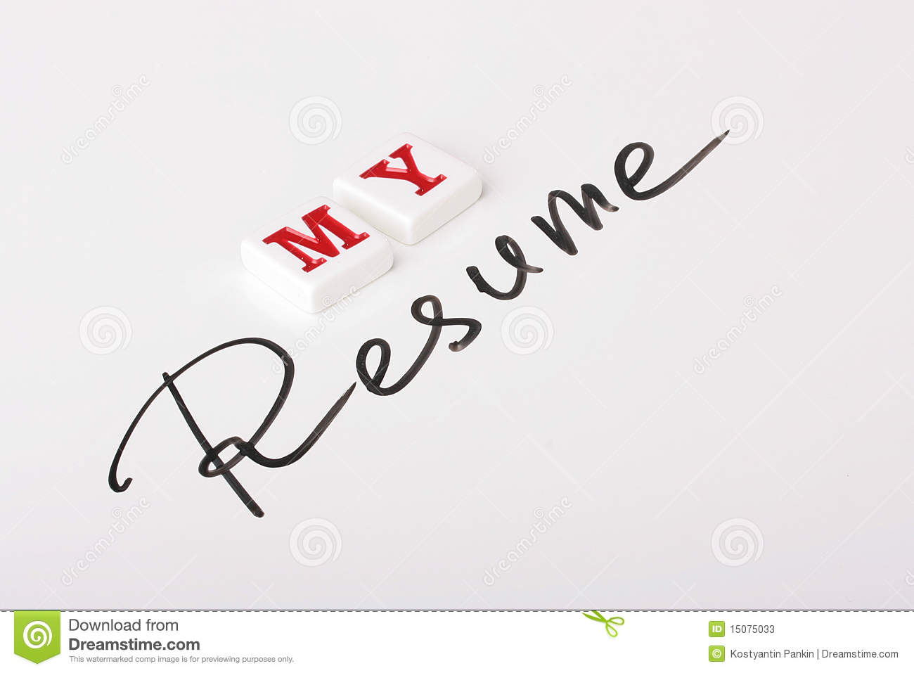 resume word stock photos
