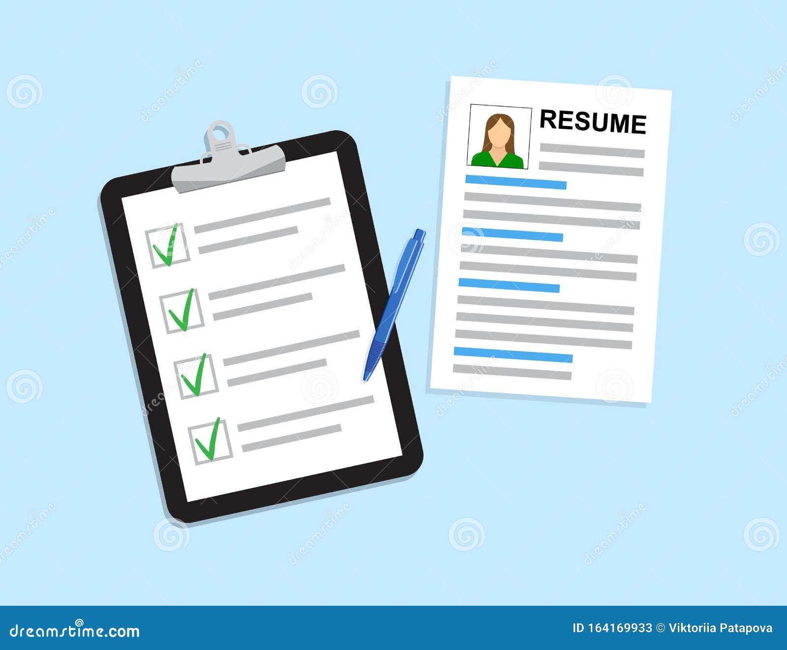 Resumes Cv Curriculum Vitae Application Selecting Staff