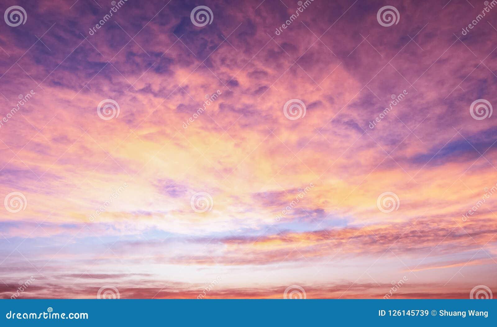 Season Concept: Sky Autumn Sunrise Background Stock Image - Image of ...