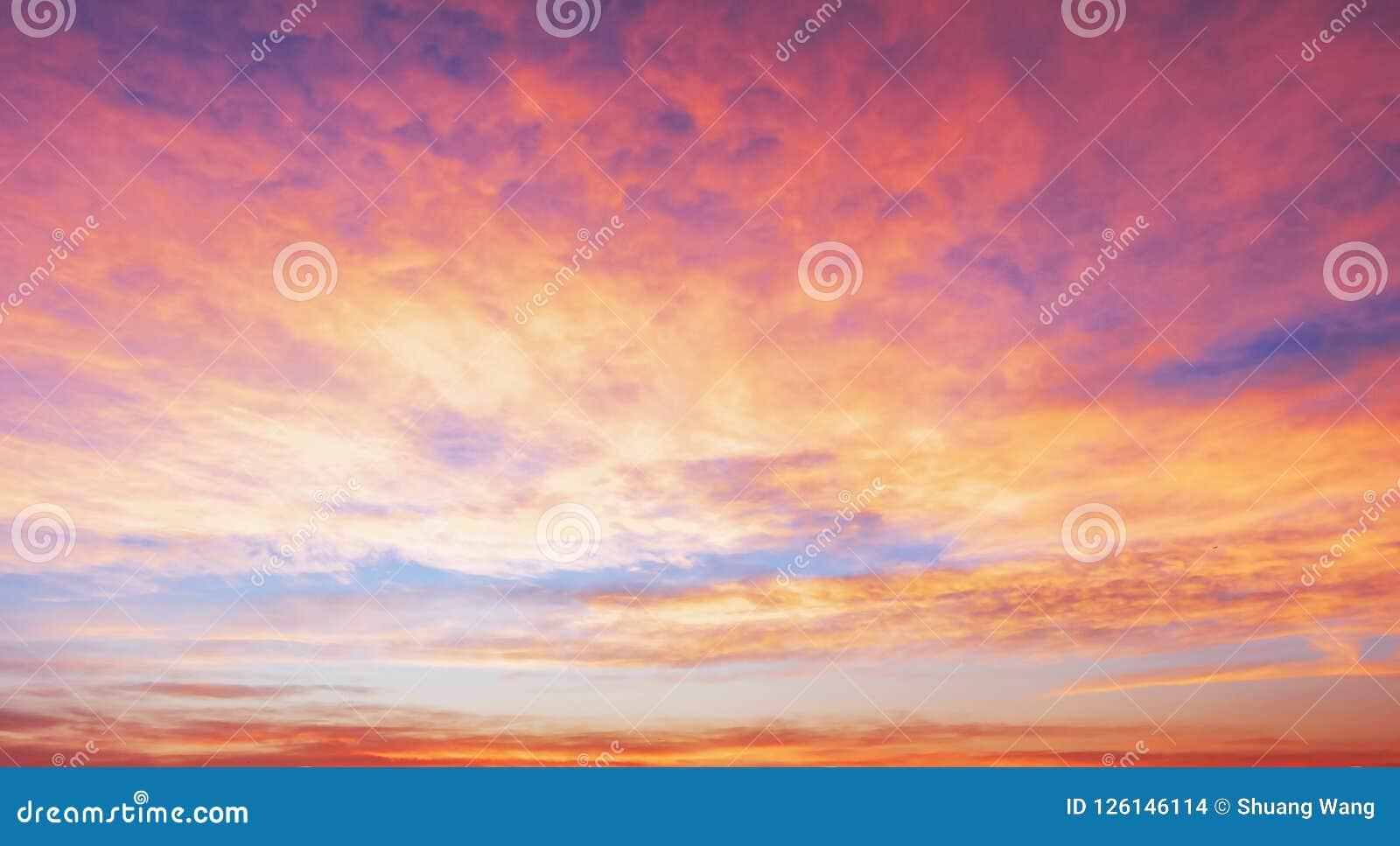 Season Concept: Sky Autumn Sunrise Background Stock Photo - Image of ...