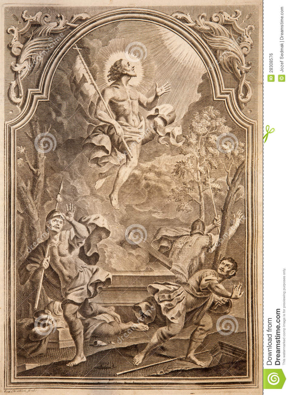 Resurrection Lithography Print In Missale Romanum Royalty