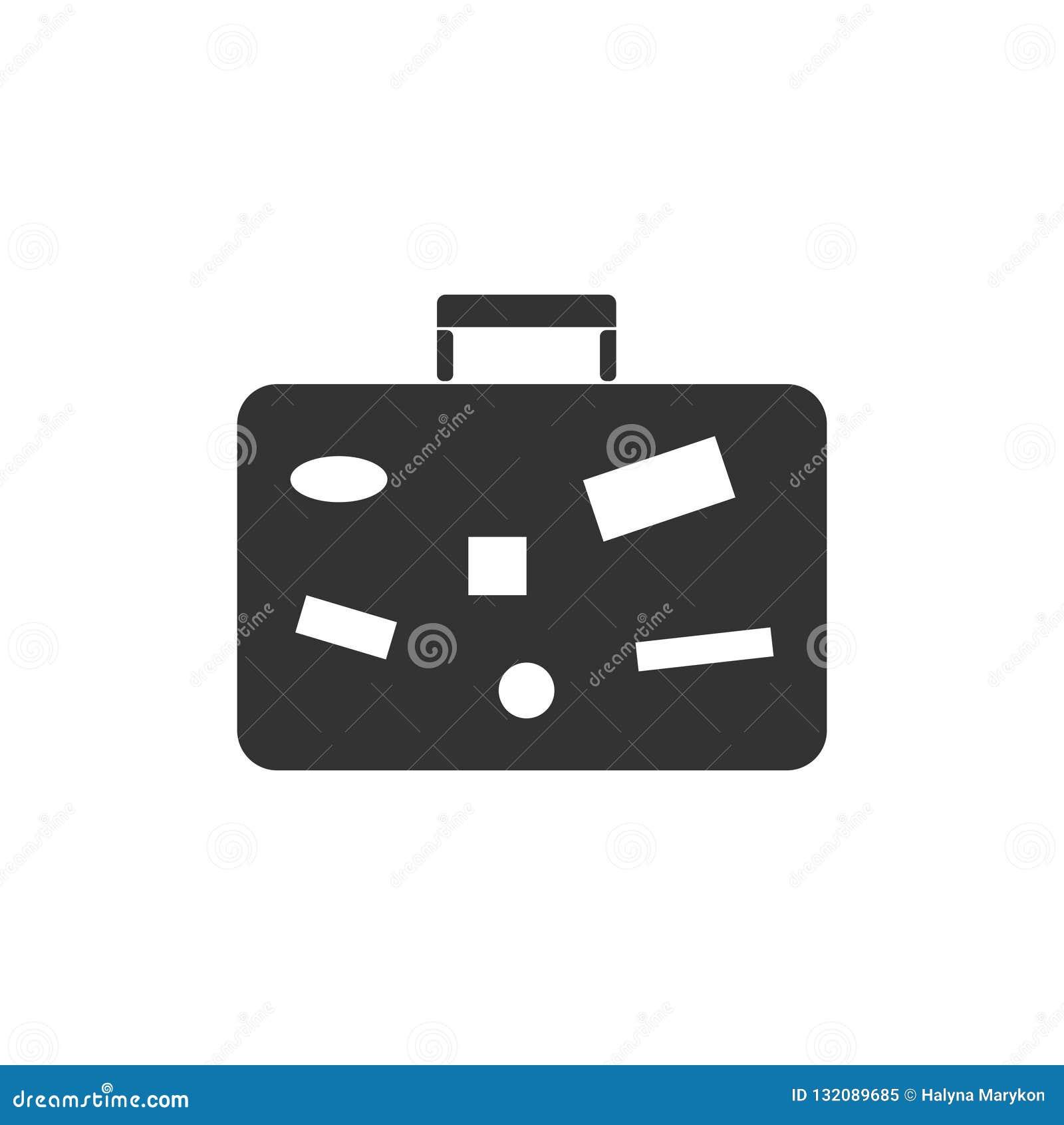 Resväska loppbagagesymbol framlänges