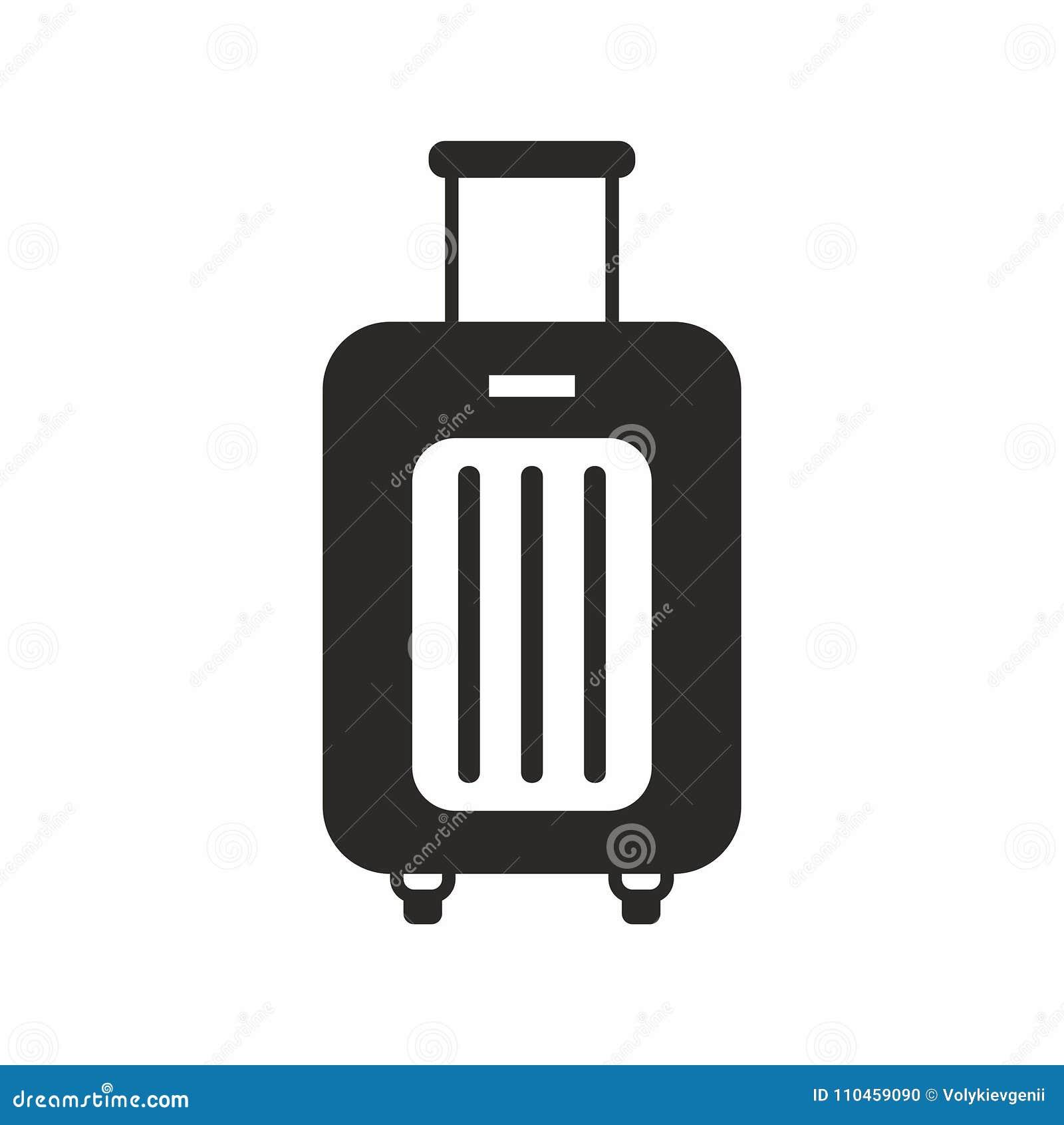 Resväska på hjul gears symbolen
