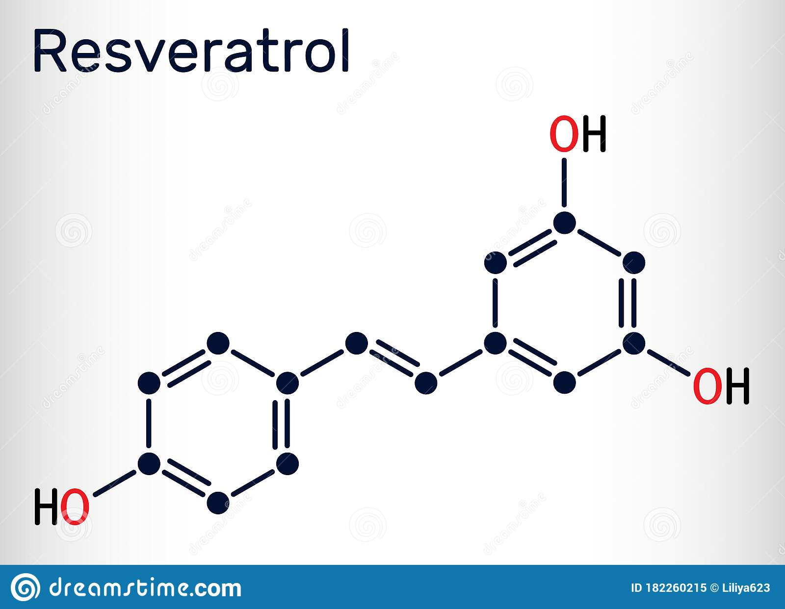 Resveratrol Trans Resveratrol Molecule It Is Stilbenoid Natural