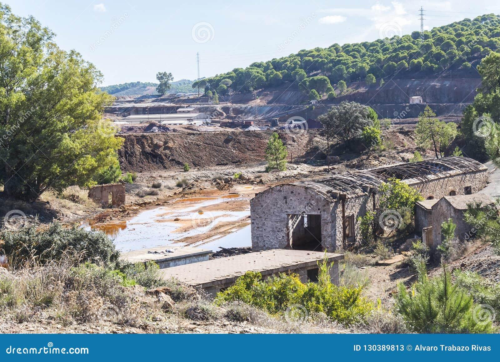 Resztki stare kopalnie Riotinto w Huelva Hiszpania