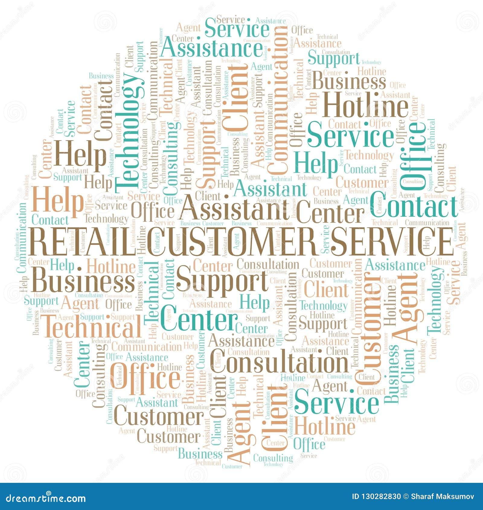 Retail Customer Service Word Cloud  Stock Illustration