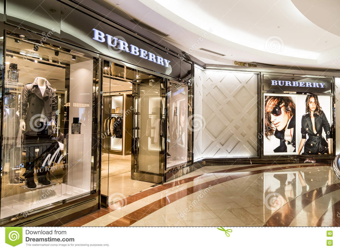 burrbery outlet qbu1  Retail outlet of Burberry in KLCC, Kuala Lumpur Editorial Stock Photo