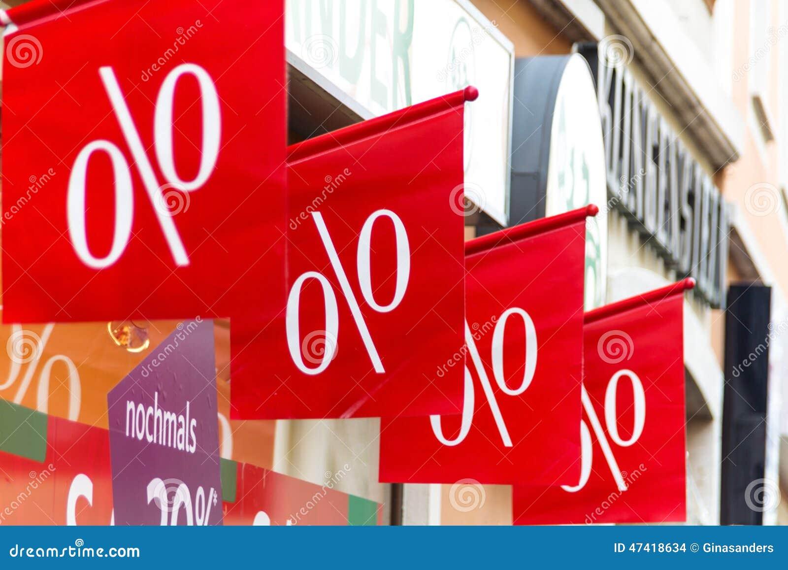 Retail price reduction in percent