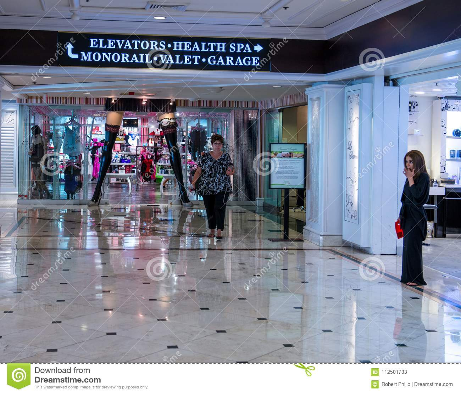Retail Shops In The Flamingo Hilton Hotel Resort Editorial Stock