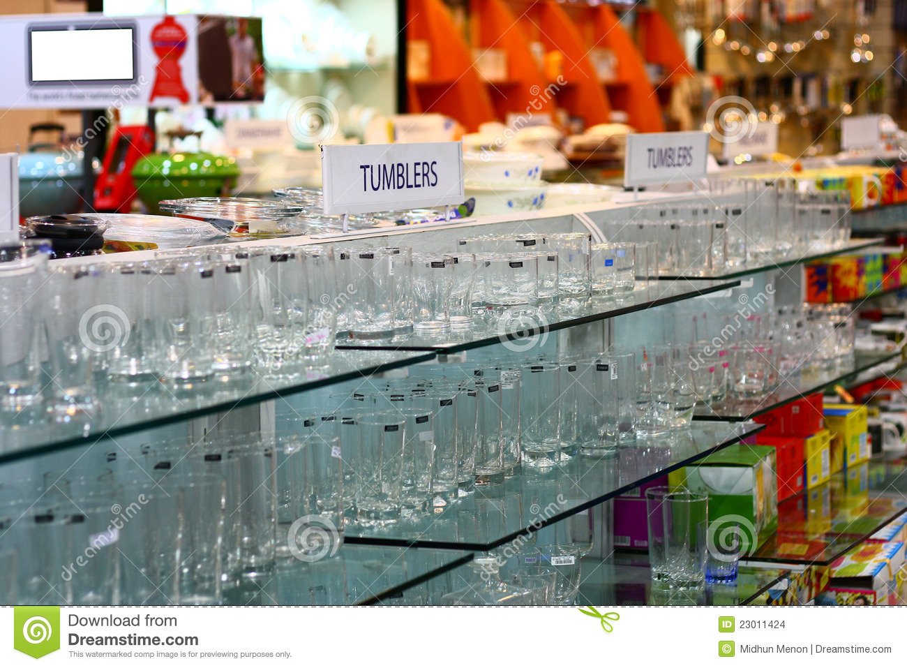Home Needs retail store for home needs stock images - image: 23011424