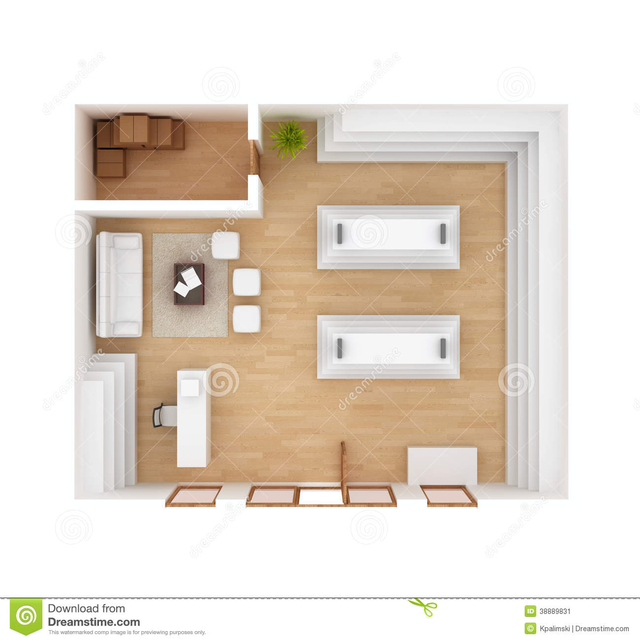 Retail Store Interior Floor Plan Stock Illustration