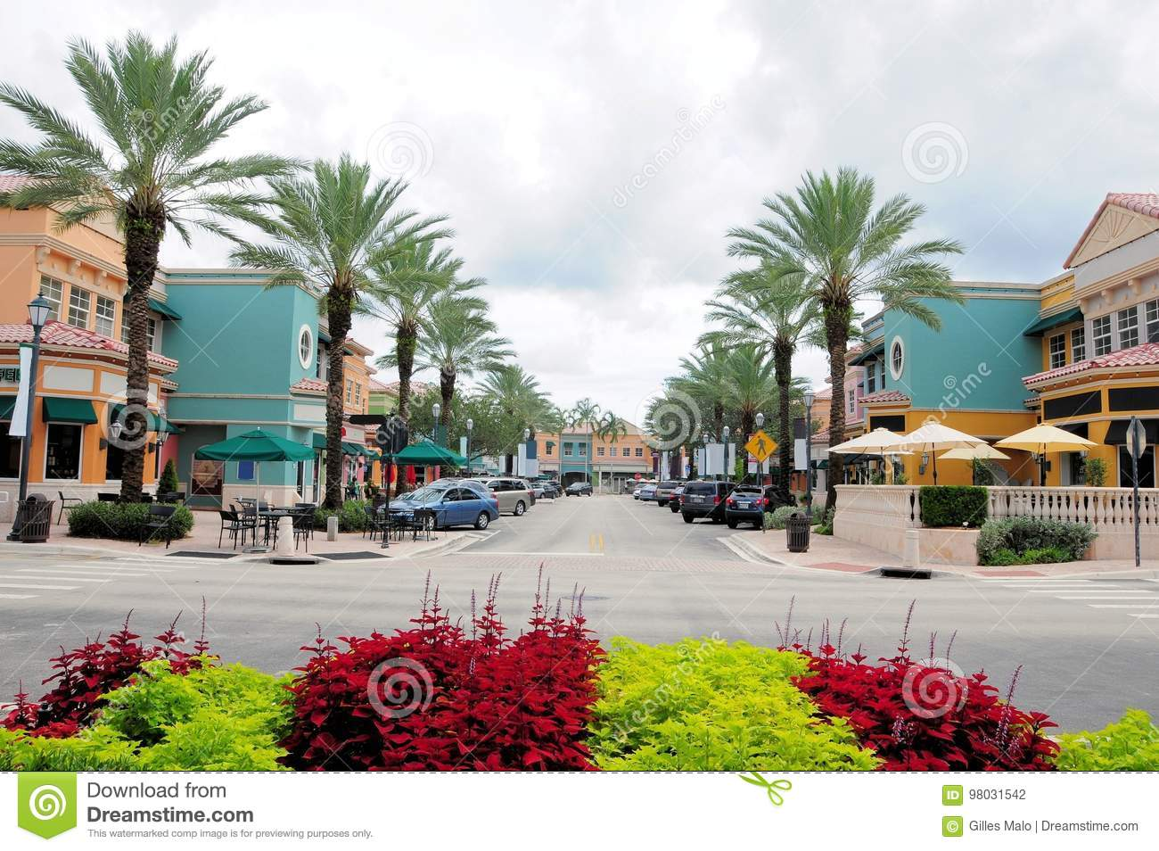 Retail Stores Restaurants Fl Stock Photo Image Of Mall