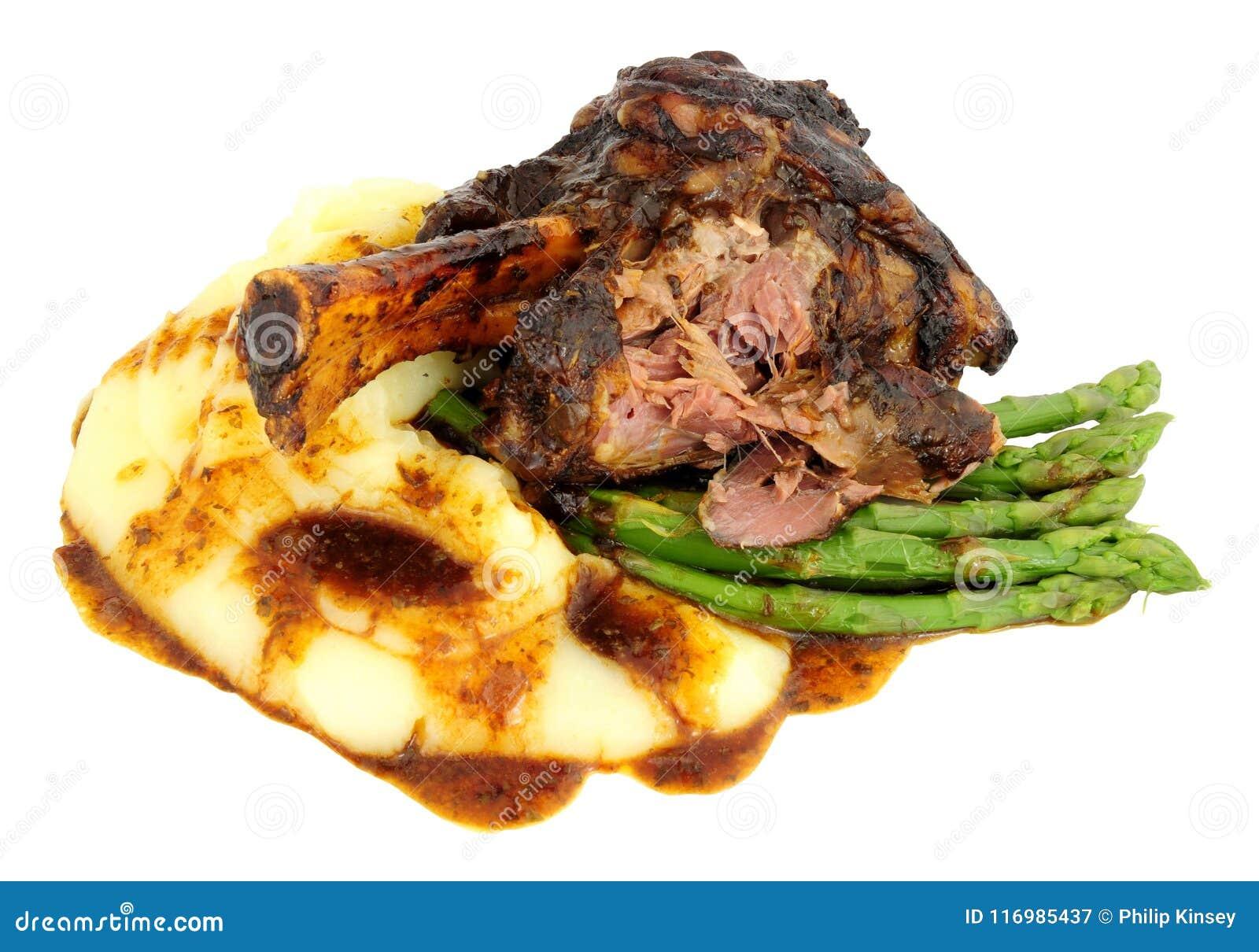 Retarde a refeição cozinhada da pata do cordeiro