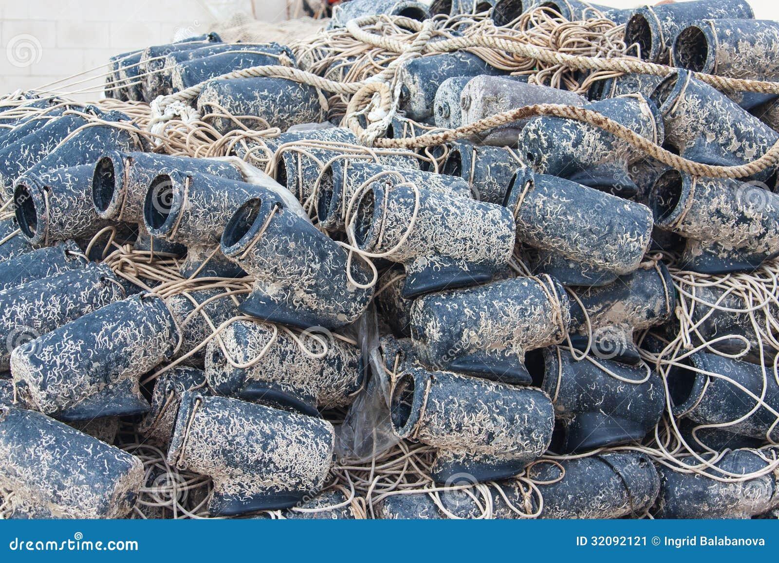 Rete da pesca bagnata di recente usata immagine stock for Rete da pesca arredamento