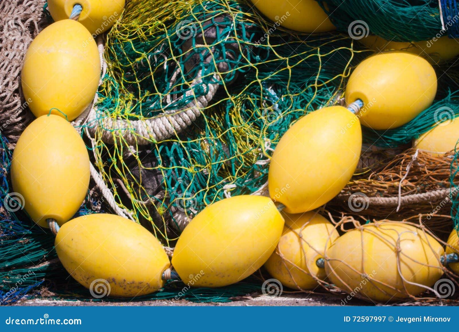 Rete da pesca con i galleggianti immagine stock immagine for Rete da pesca arredamento