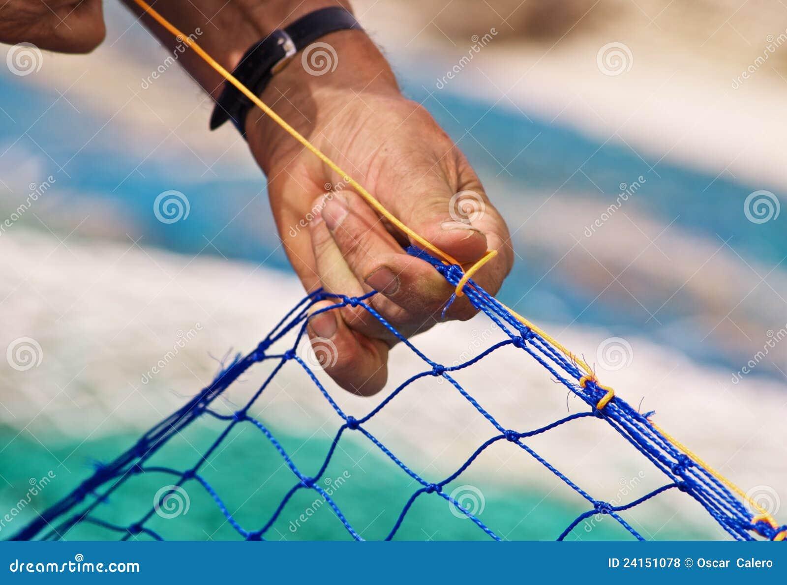 Rete da pesca di cucito fotografia stock immagine di - Rete da pesca per decorazioni ...
