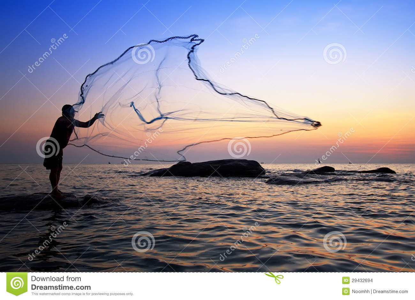 Rete da pesca di lancio immagini stock immagine 29432694 for Rete da pesca arredamento