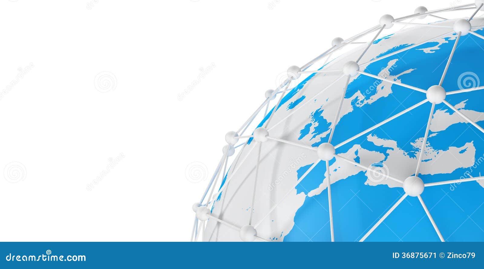 Download Rete della terra illustrazione di stock. Illustrazione di globale - 36875671