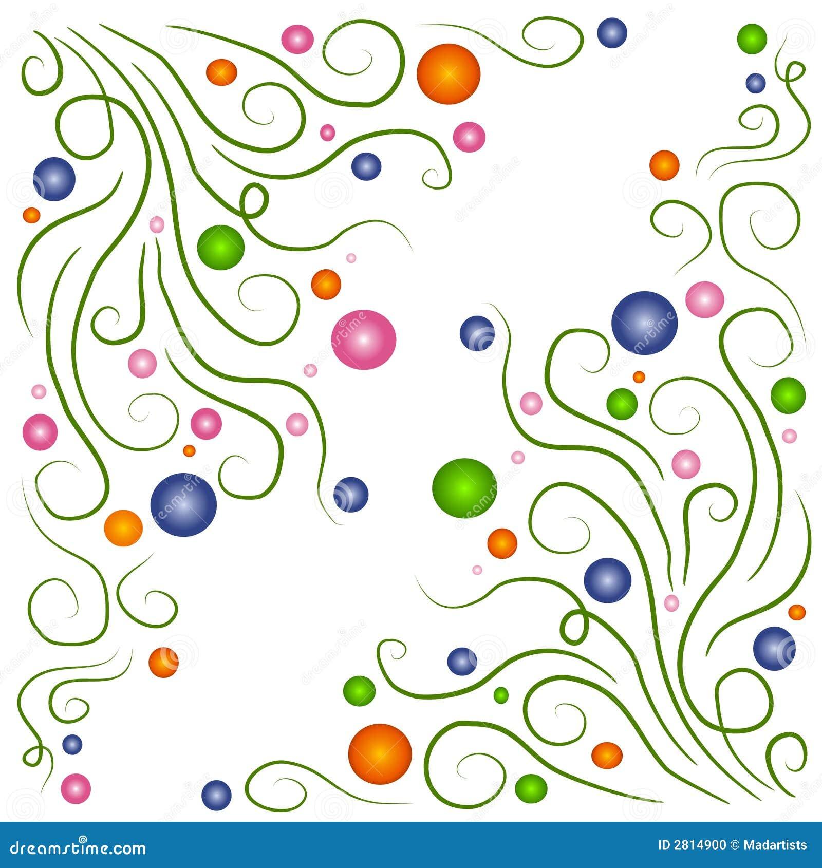 Reticoli dei cerchi delle viti di Swirly