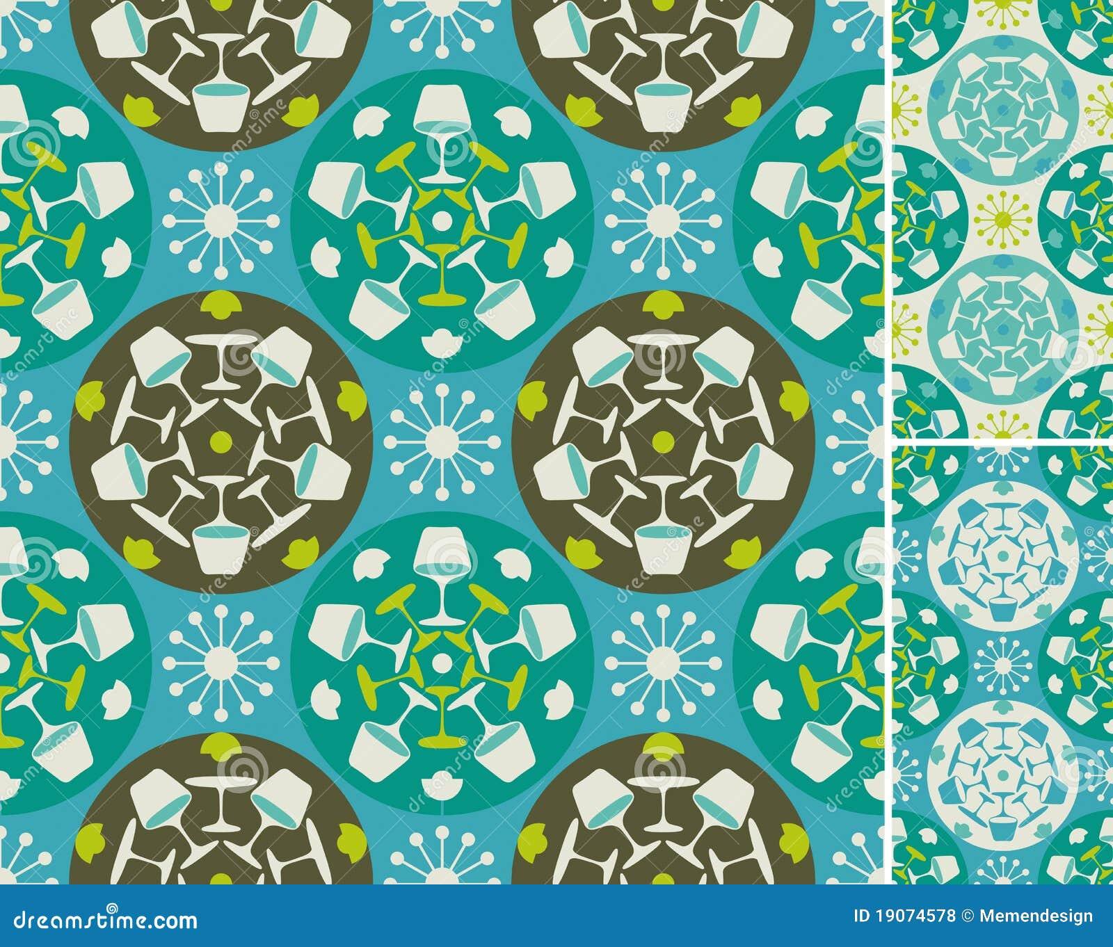 Reticolo astratto blu della mobilia illustrazione for Mobilia download