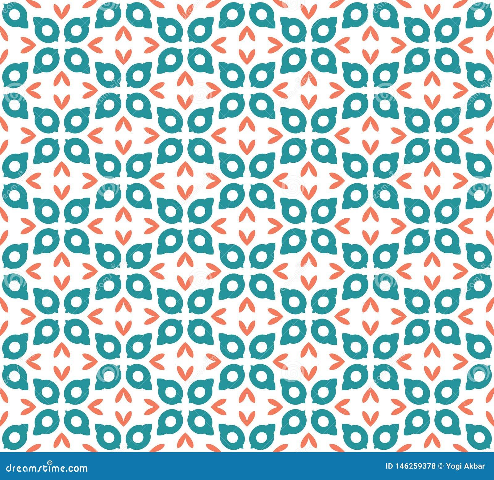 Reticolo floreale astratto senza giunte stile moderno di simmetria