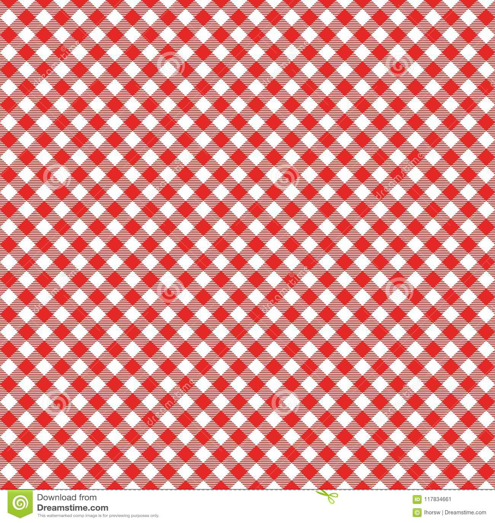Reticolo senza cuciture del percalle Tovaglia italiana rossa Vettore del panno di racconto di picnic