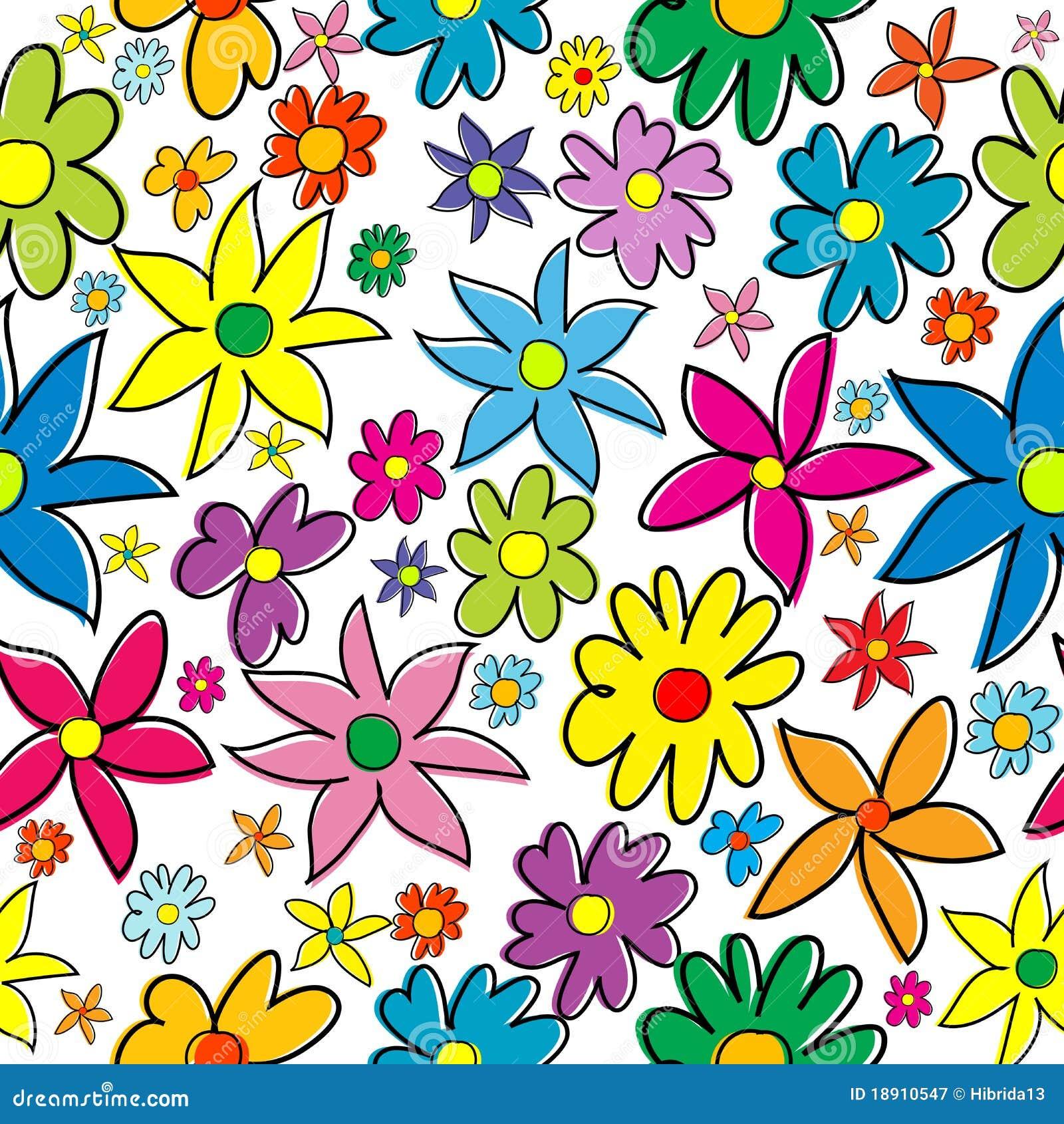 reticolo senza giunte con i fiori stilizzati colorati