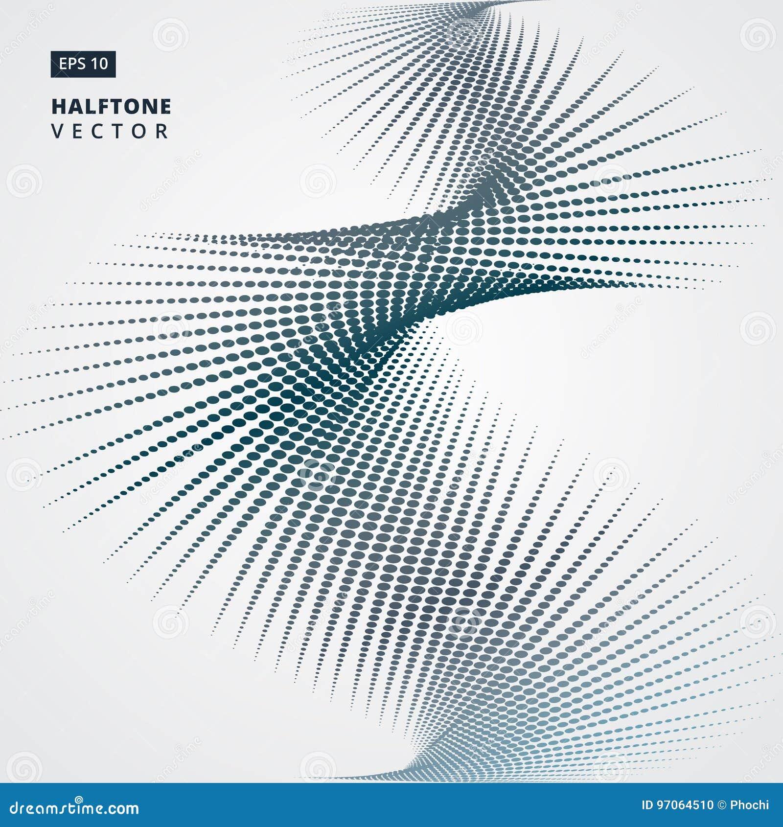 A reticulação espiral abstrata pontilha o formulário Ilustração do vetor