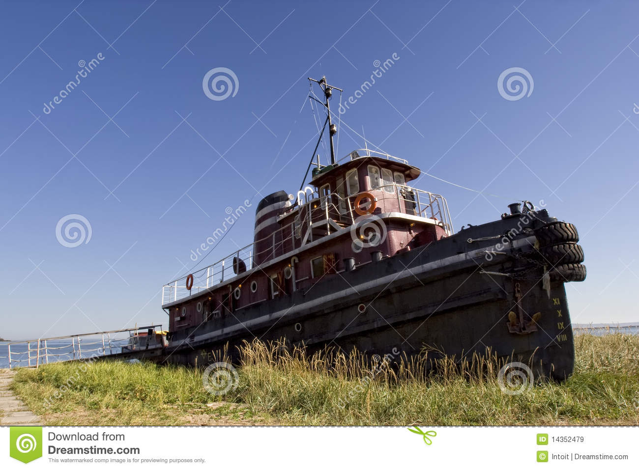 The old tug boat that put in years of service is now just sitting on ...
