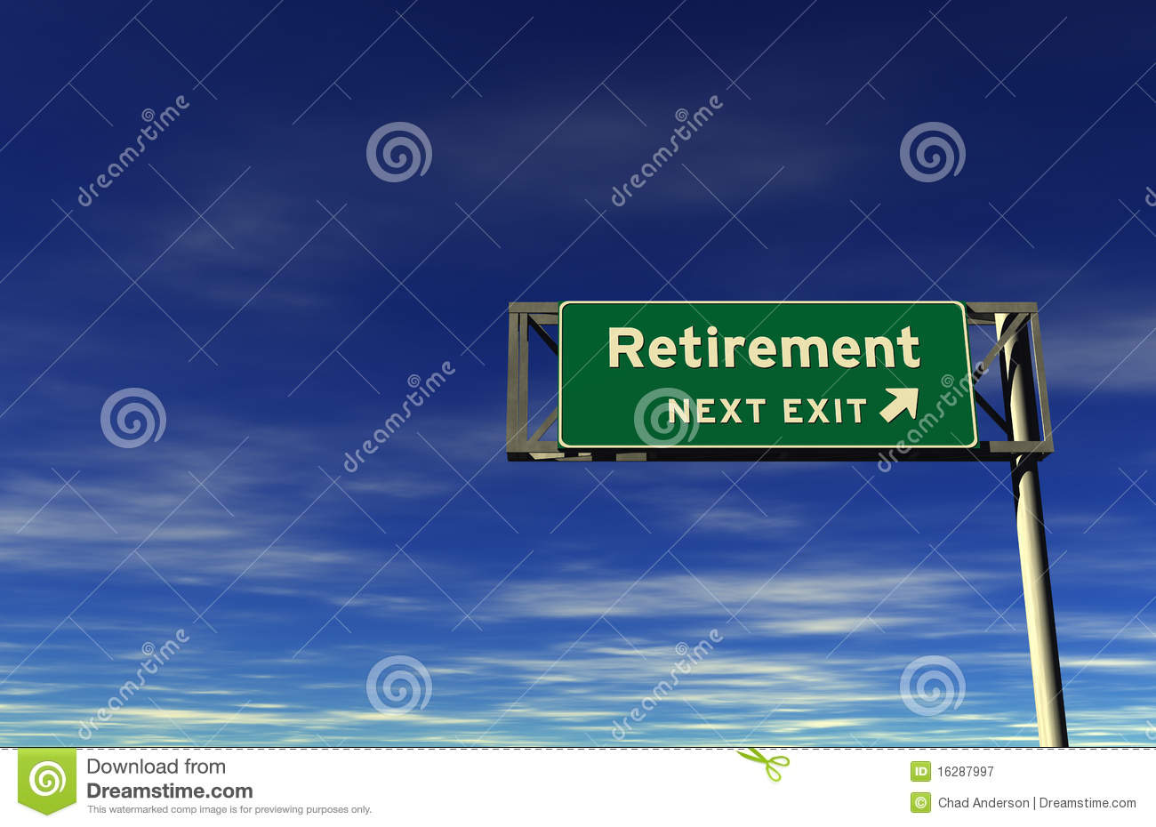 Retirement - Freeway Exit Sign