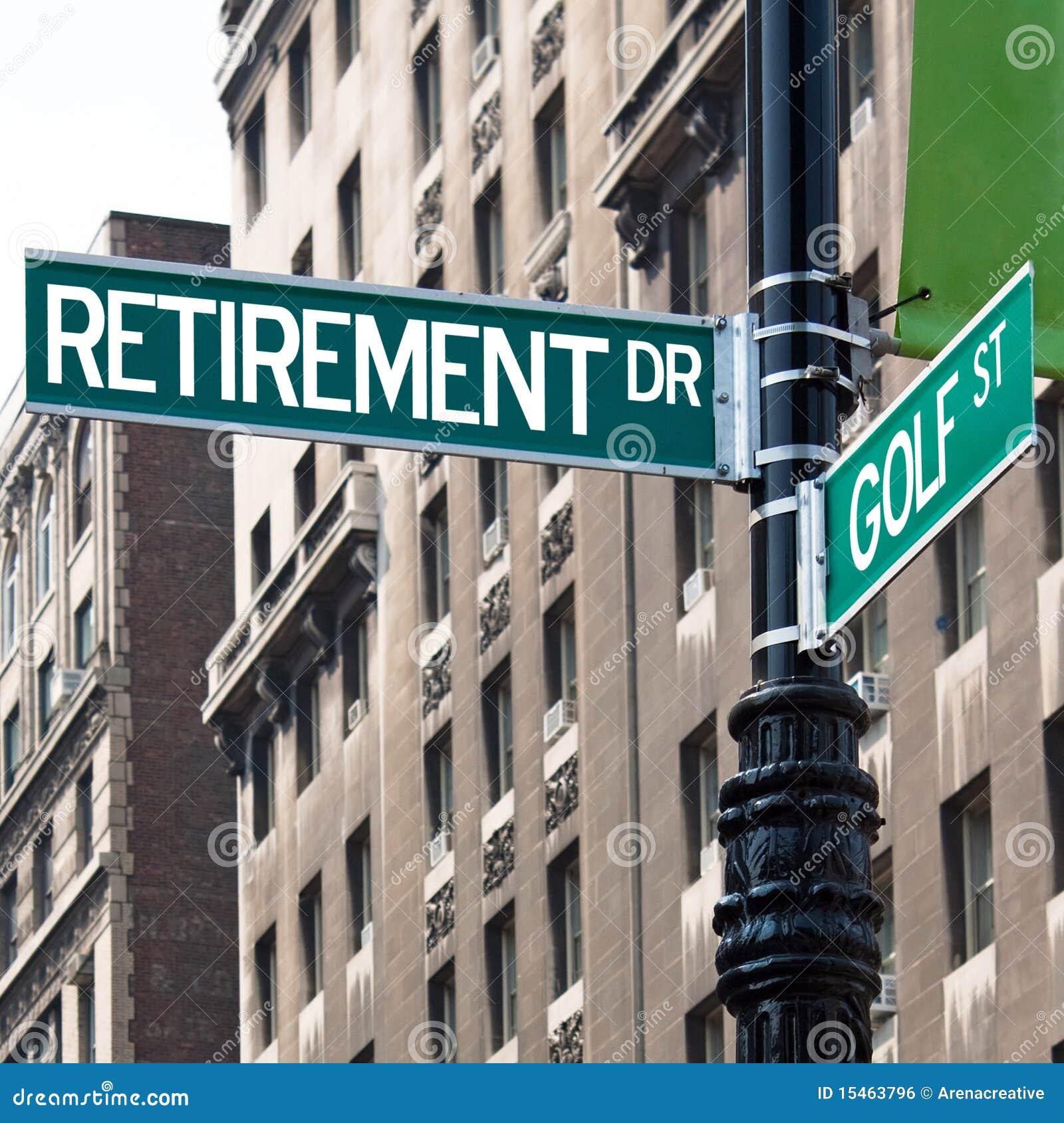 Retirement Golf Street Signs