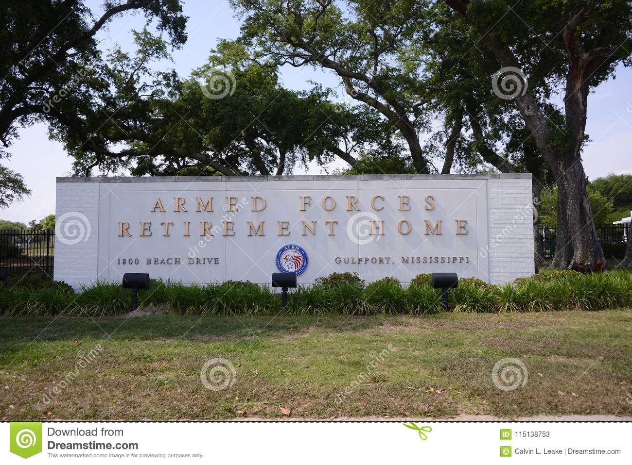 Armed Forces Retirement Home, Gulfport, MS Editorial Stock
