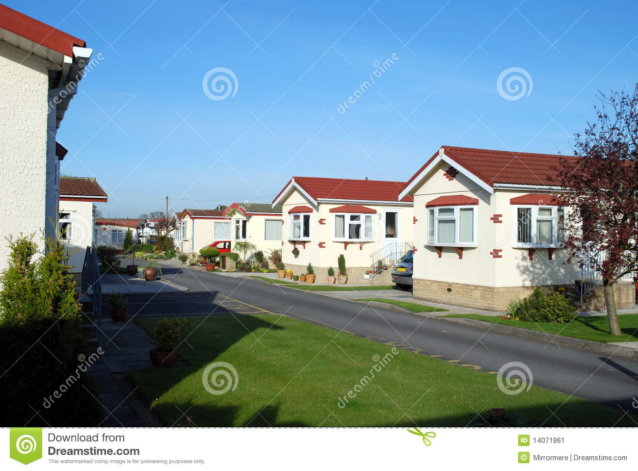 Retirement Park Homes Stock Image Image 14071861