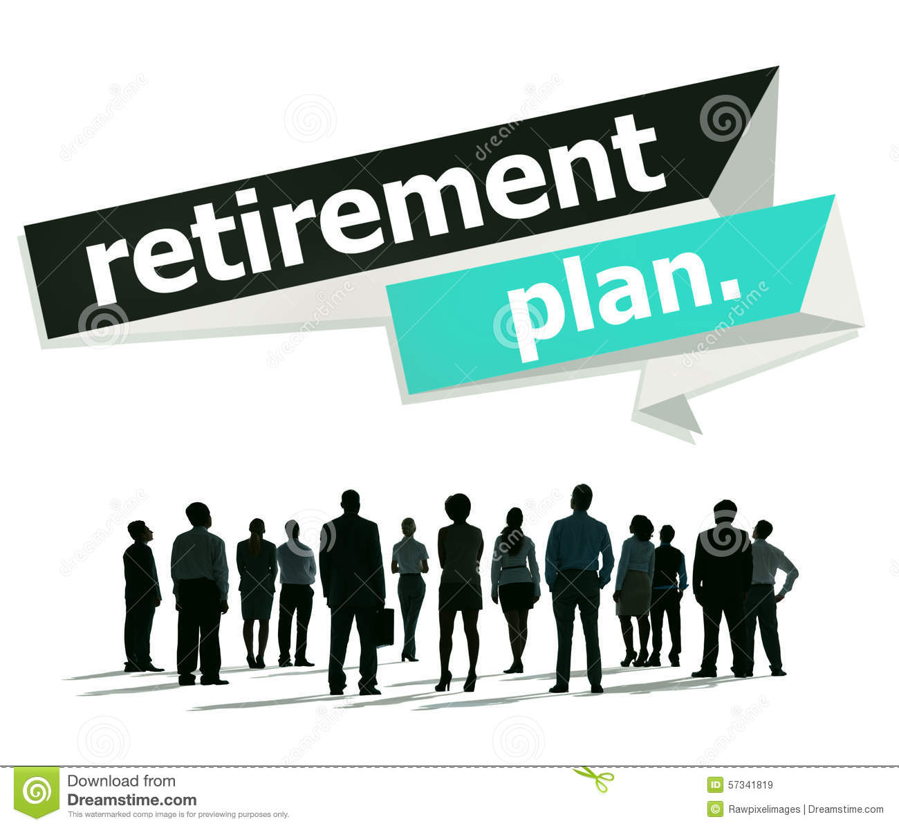 Retirement Plan Planning Pension Concept Stock