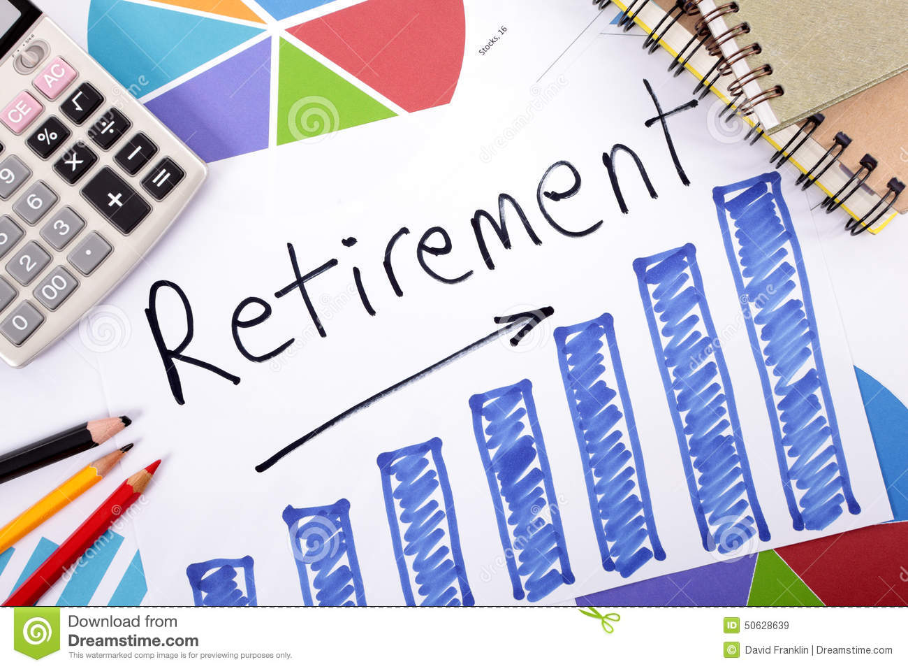 Retirement plan stock image. Image of concept, business  50628639
