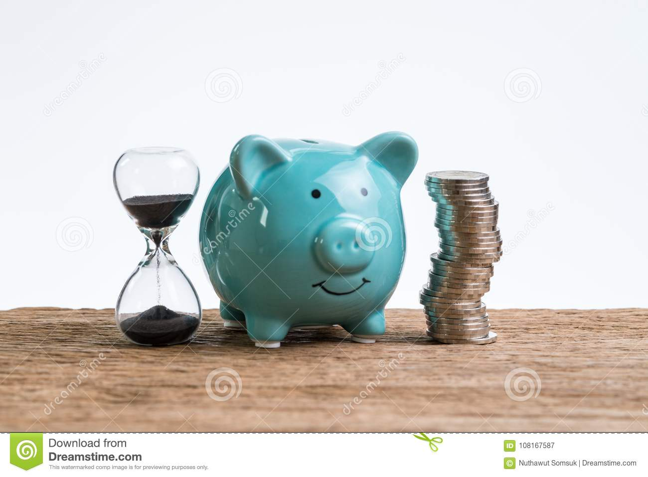 Download Retirement Saving Money Piggy Bank As Long Term Investment Conce Stock Image - Image of compound, money: 108167587